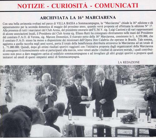 1993 - Articolo di giornale - La 16ma Marciarena