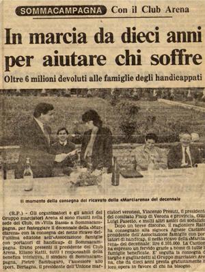 1987 - Articolo di giornale - Dieci Anni di Marcia