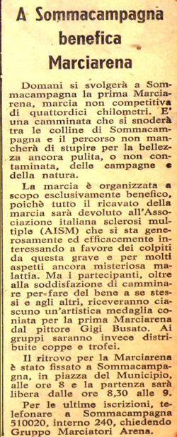 Articolo da L'Arena del 18/06/1977